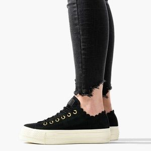 Converse platform women's black shoes
